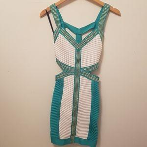 Hot BEBE Stud bandage dress